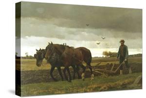 The Ploughman, 1880 by Frants Henningsen
