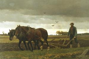 The Ploughman, 1880 by Frants Henningsen