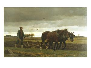 The Ploughman by Frants Henningsen