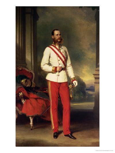 Franz Joseph I, Emperor of Austria (1830-1916) Wearing the Uniform of an Austrian Field Marshal-Franz Xaver Winterhalter-Giclee Print