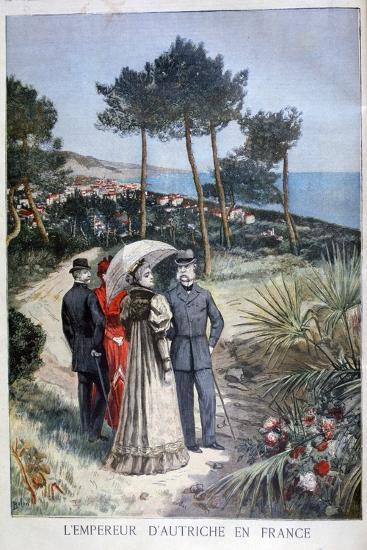Franz Joseph I, Emperor of Austria, on a Visit to France, 1894-Jose Belon-Giclee Print