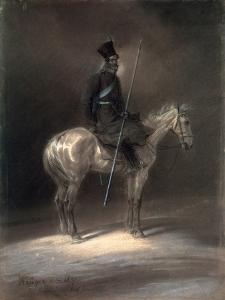 Cossack on Horseback, 1837 by Franz Kruger