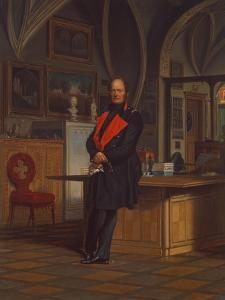Friedrich Wilhelm IV, King of Prussia, in His Office at Berlin Schloss, after 1846 by Franz Kruger