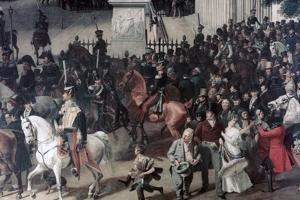 Parade at the Opera Place, Berlin, (Detail), C1817-1857 by Franz Kruger