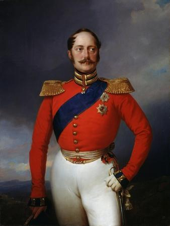 Portrait of Emperor Nicholas I, (1796-185), 1847