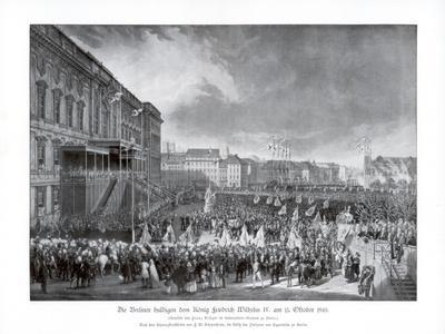 The Accession to the Throne of Frederick William IV of Prussia, 15 October 1840