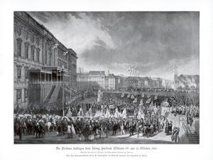 The Accession to the Throne of Frederick William IV of Prussia, 15 October 1840 by Franz Kruger