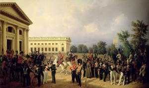 The Russian Guard in Tsarskoye Selo in 1832, 1841 by Franz Kruger