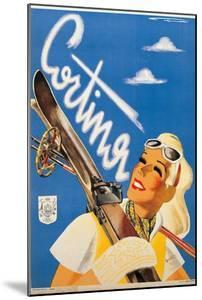 Poster Advertising Cortina d'Ampezzo by Franz Lenhart