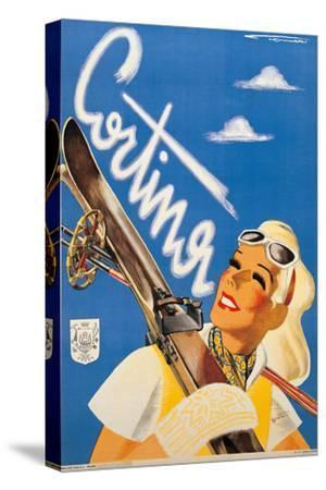 Poster Advertising Cortina DAmpezzo