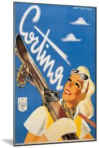 Poster Advertising Cortina DAmpezzo by Franz Lenhart