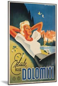 Travel Poster for the Italian Dolomites by Franz Lenhart