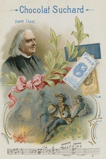 Franz Liszt, Austrian Composer and Musician--Giclee Print