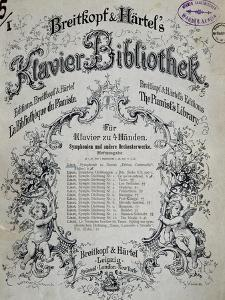 Title Page of Collection of Sonatas for Harpsichord by Franz Liszt