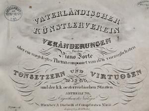 Title Page of Collection of Sonatas for Piano by Franz Liszt