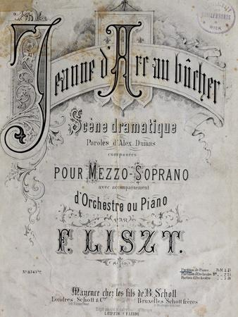 Title Page of Score for Joan of Arc at Stake