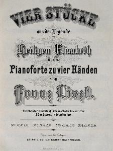 Title Page of Score for Legend of St. Elizabeth by Franz Liszt
