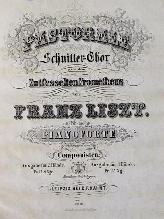 Title Page of Score for Prometheus