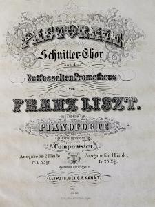 Title Page of Score for Prometheus by Franz Liszt