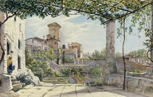 Villa Malta, Rome, about 1840 by Franz Ludwig Catel
