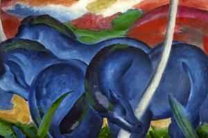 Big Blue Horses by Franz Marc