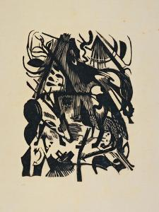 Birth of the Wolf by Franz Marc