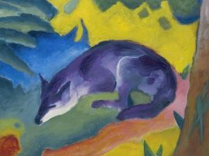 Blue Fox, 1911 by Franz Marc