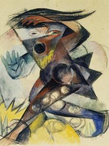 Caliban. Figure for Shakespeare's 'the Tempest', 1914 by Franz Marc