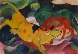Cows Yellow-Red-Green, 1912 by Franz Marc