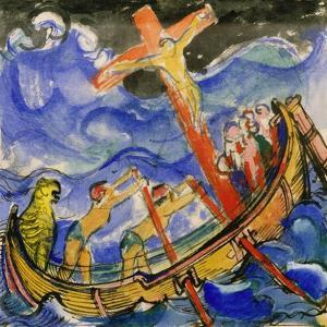Crusaders in a Storm, 1913 by Franz Marc
