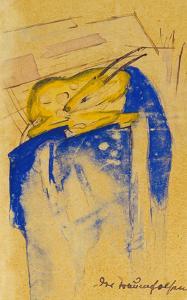 Der Traumfelsen, 1913. Auf Postkarte an Else Lasker-Schueler by Franz Marc
