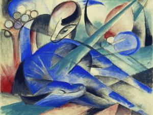 Dreaming Horse (Träumendes Pferd). 1913 by Franz Marc