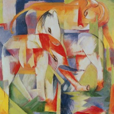 Elephant, Horse and Cow, 1914
