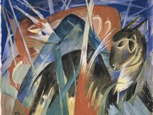 Fable Animals I (Composition with Animals), 1913 by Franz Marc