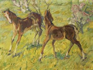 Fohlen Auf Der Weide, 1909 by Franz Marc