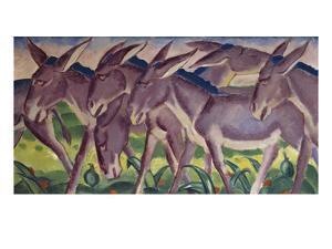 Frieze of Donkeys, 1911 by Franz Marc
