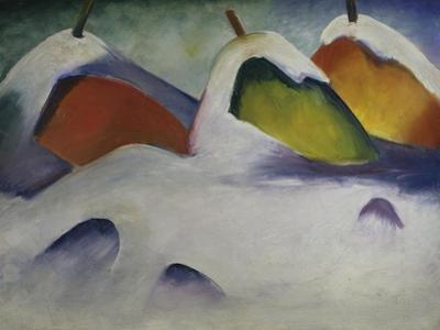 Heuhocken Im Schnee, 1911