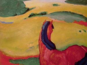 Horse in a Landscape, 1910 by Franz Marc