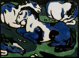 Horses Resting by Franz Marc