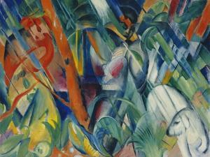 In the Rain, 1912 by Franz Marc