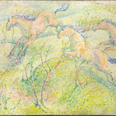 Jumping Horses, 1910
