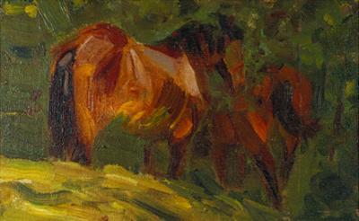 Kleine Pferdestudie I, 1905