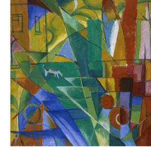 Landscape with House, Dog and Cow, 1914 by Franz Marc