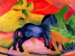 Little Blue Horse, 1912 by Franz Marc