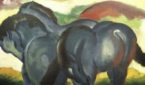 Little Blue Horses by Franz Marc
