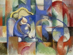 Lying Bull, 1913 by Franz Marc