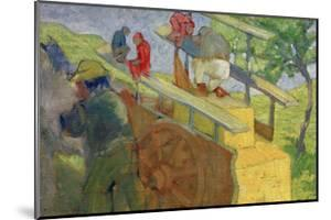 Monkey on a Cart by Franz Marc