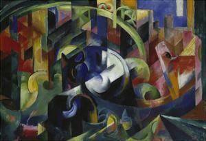 Painting with Cattle I, 1913/1914 by Franz Marc