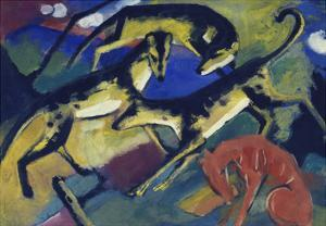 Playing Dogs, 1912 by Franz Marc