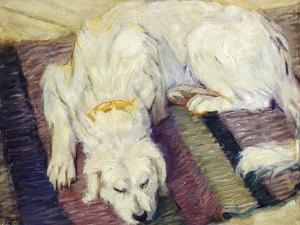 Reclining Dog (Portrait of a Dog), 1909 by Franz Marc